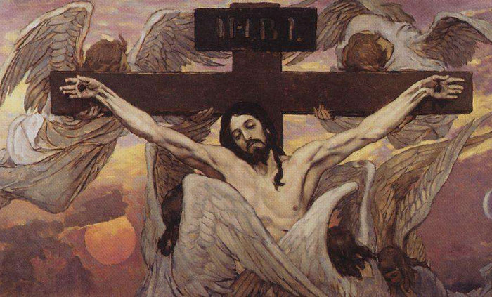 Vasnetsov The-crucified-Jesus-Christ